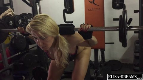 Elisa Dreams -  doing my workout half nude