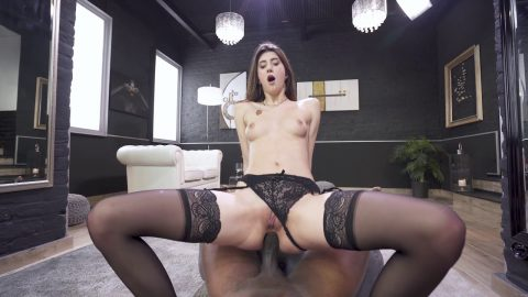 Letsdoeit - Sexy brunette destroyed in hardcore sex