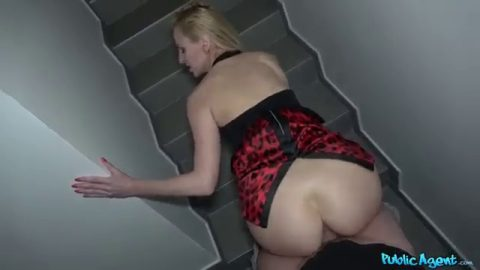 Public Agent - Afina Kisser (Stairwell Orgasms for Russian Blonde)
