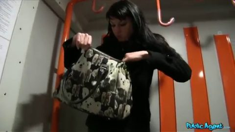 Public Agent - Penelope Amour (Raven Haired Hottie Gets A Hot Cumshot On A Speeding Train)